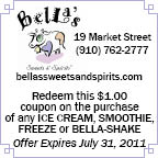 Coupon for Bellas_July 2011