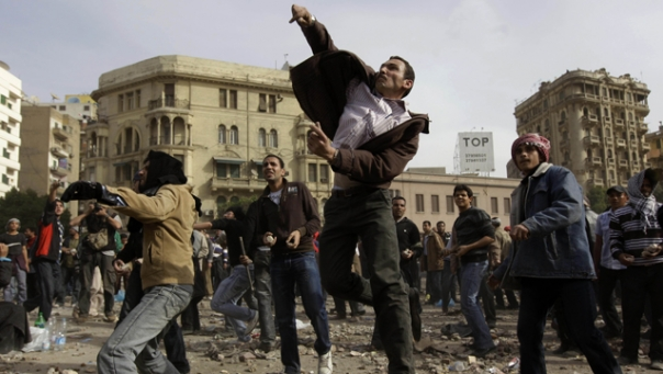 AP-FOX News: Feb. 3, 2011, Cairo, Egypt