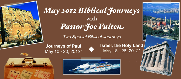 May 2012 Biblical Journeys