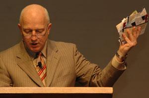 Pastor Joe Blesses Biz Cards