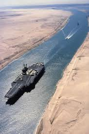 Suez Canal by Mike Dowling