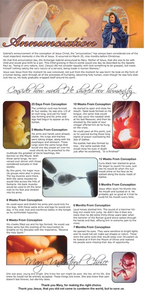 Annunciation Sunday Full Page Ad