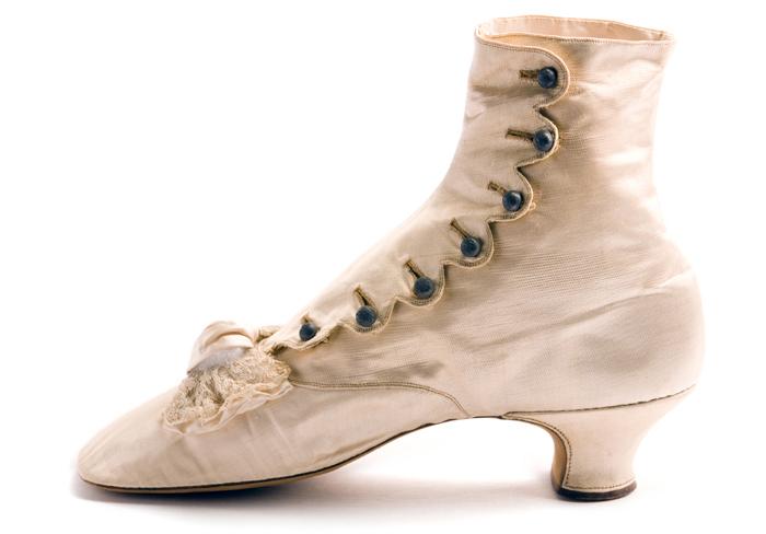 L. Perchellet satin evening shoe