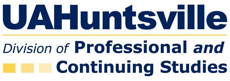 UAHuntsville Professional and Continuing Studies