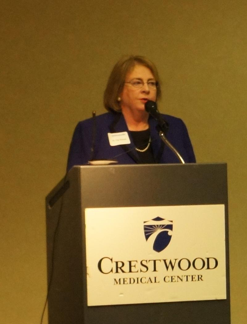 Dean Raines speaks at a Lunch and Learn hosted by the Crestwood Alumni Chapter
