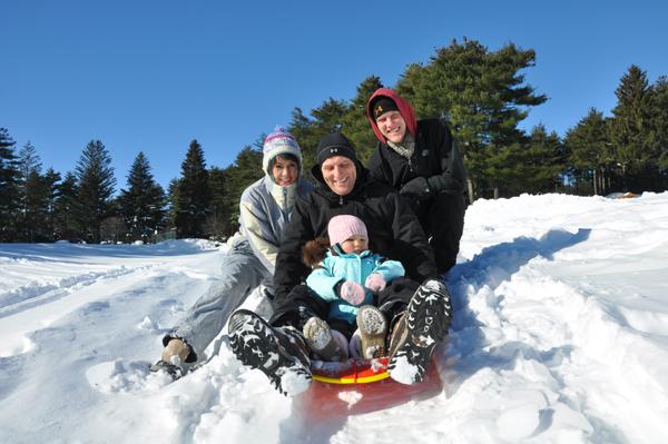 Sledding Family