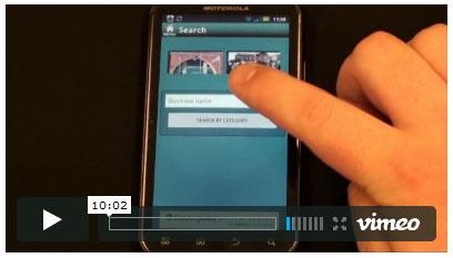 mobile app demostration