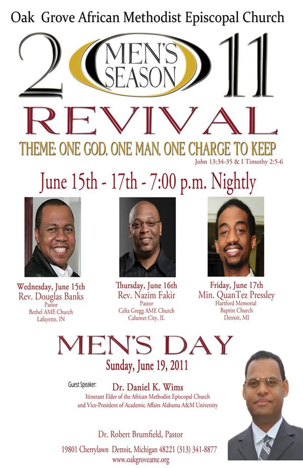 JUN 15-17: 2011 Men's Season Revival @ Oak Grove A M E