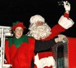 Santa lights the tree on Bainbridge Island