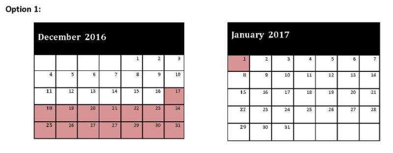Calendar Option 1