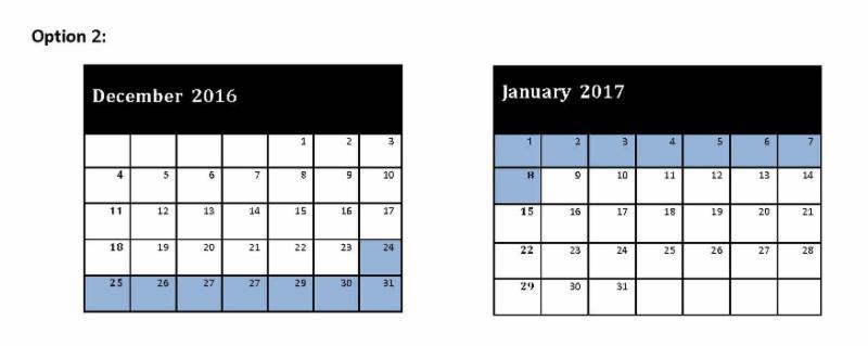 Calendar Option 2
