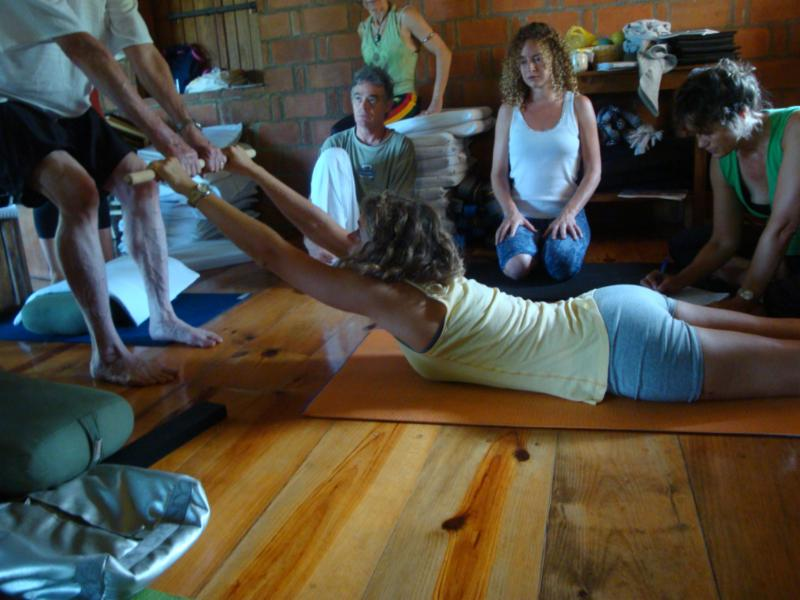 David McAmmond teaching Therapeutic Yoga