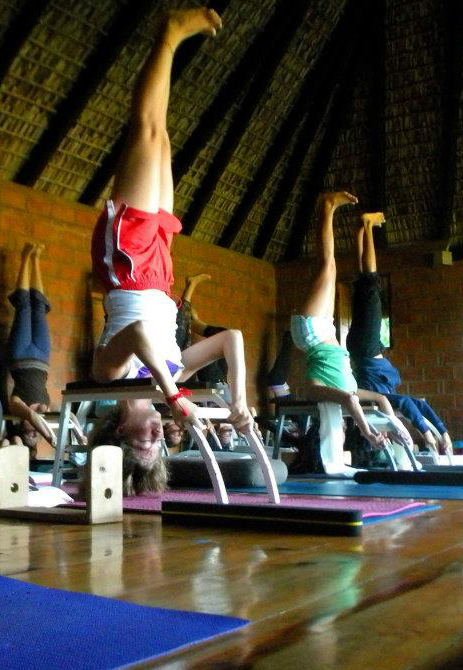 using the headstander for safe headstand (sirsasana)