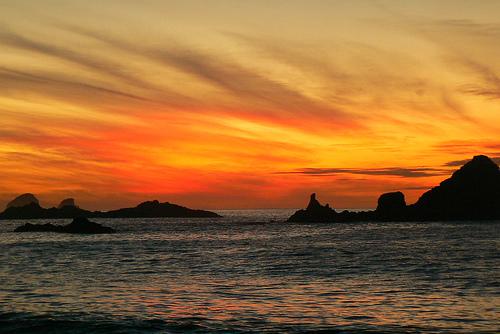 amanecer sobre el Pacifico