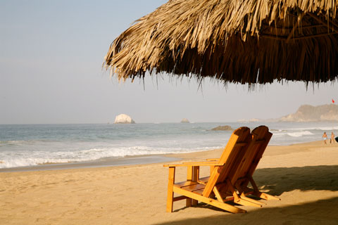 Zipolite beach view
