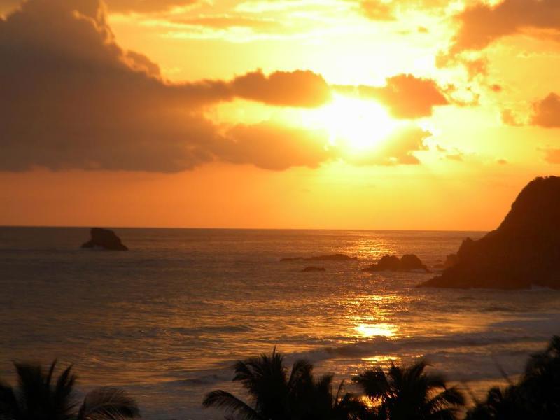 sunset on Zipolite Beach