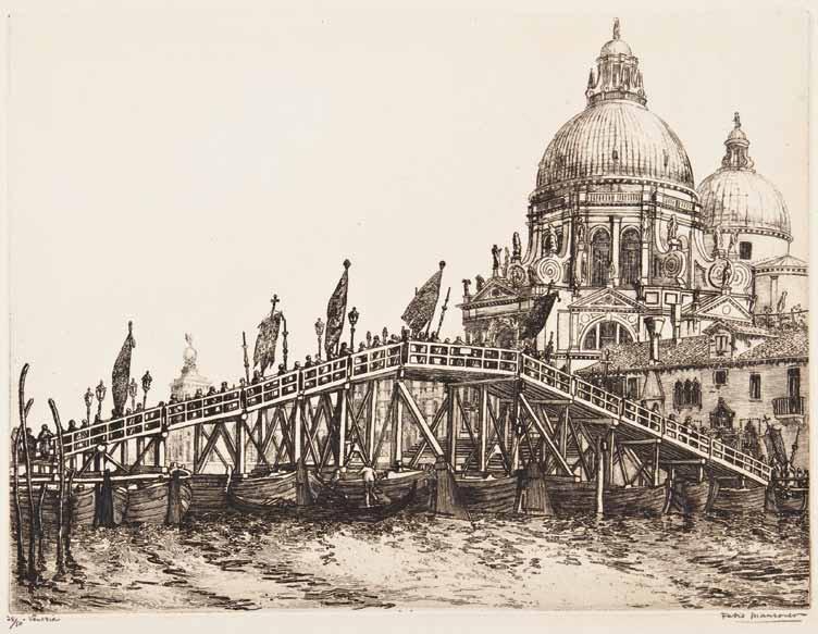 Fabio Mauroner, La Processione S. Maria della Salute, 1924