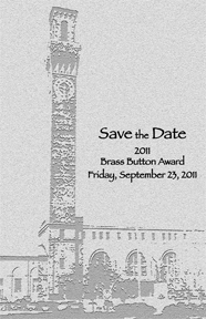 Brass Button Save the Date