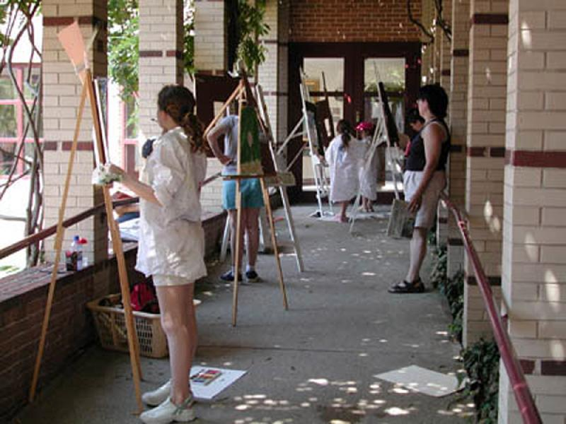 Painting in the Courtyard