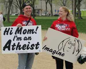 Proudly sharing atheism at the Reason Rally