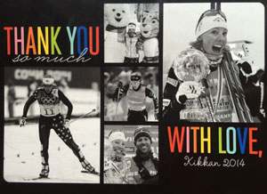 Kikkan Randall Thank You Card