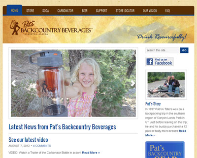 WordPress Conversion for Pat's Backcountry Beverages