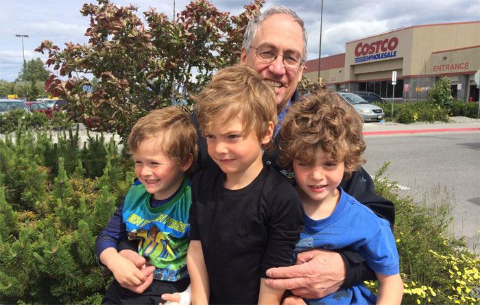 Dr. DeKeyser and our triplets