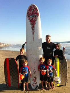 Joe with his Beach Boys
