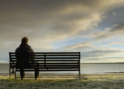 Sitting Alone on a Bench