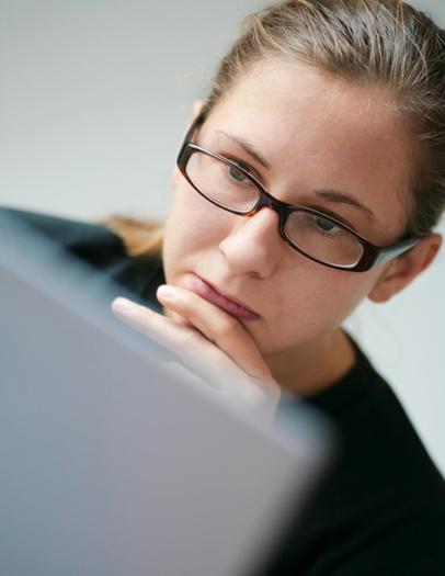 Woman at Grey Laptop Added Nov 2010