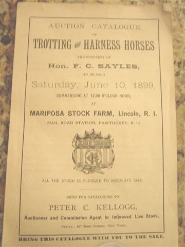Mariposa Auction Booklet
