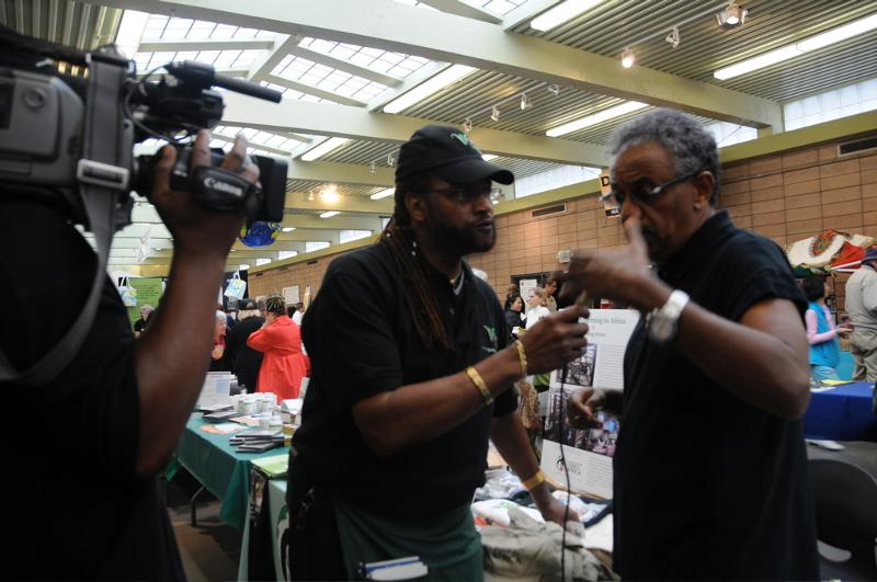 Anteneh Interview with Local News at World Veg Weekend Oct 2-3 2010