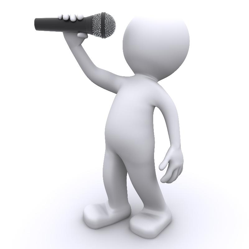 man with mic