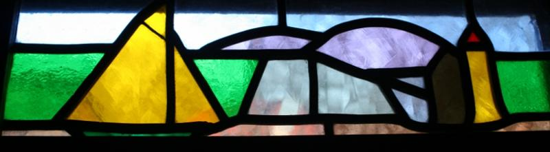 Sloop Stained Glass Banner