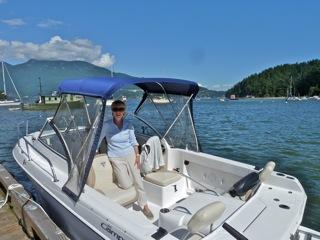 Caroline on Her Boat