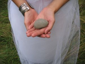 stone in hand
