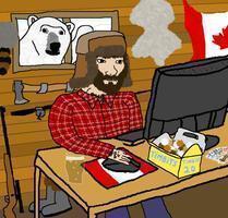online shopper lumberjack