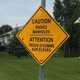 Fredericton road sign