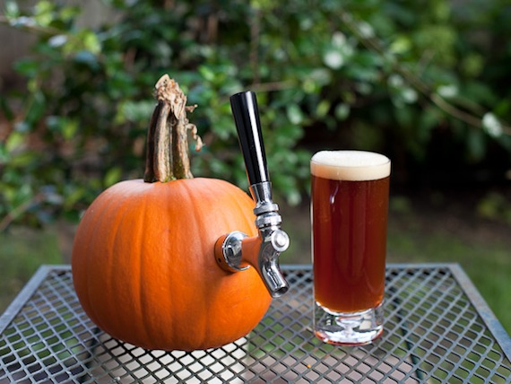 Pumpkin beer tap