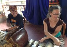 Learning gamelan on the jegogan