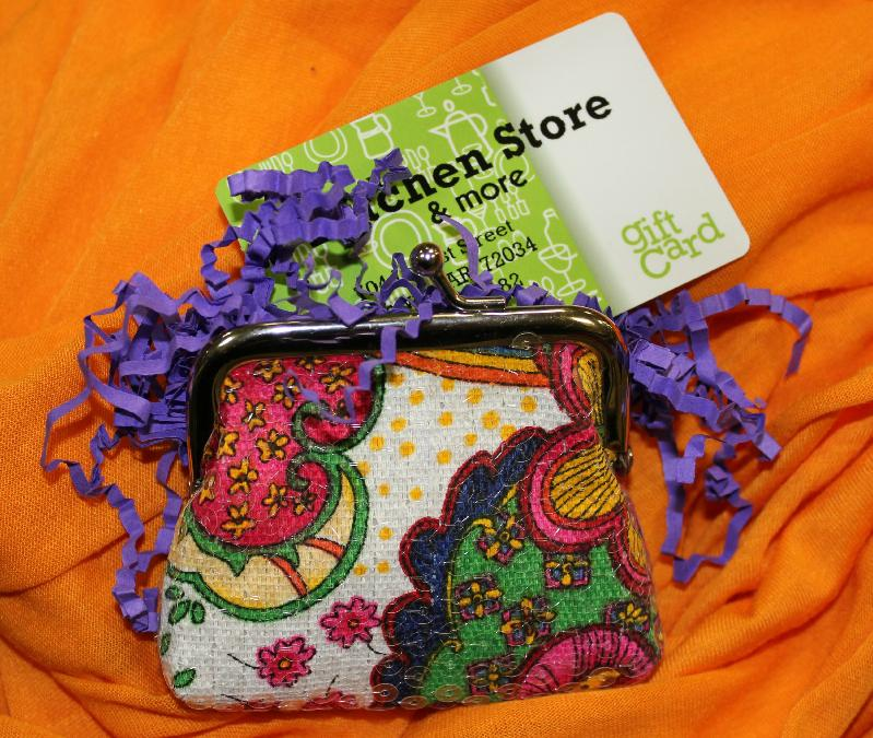 Cute Way To Wrap A Gift Card From Kitchen Store In Conway Arkansas Birthday Gifts And