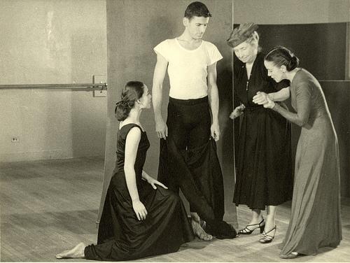 Martha Graham with Helen Keller
