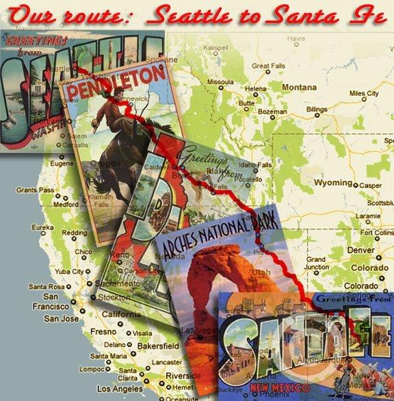 Route to Santa Fe