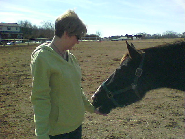 Joan and horse