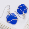 Suegray Seaglass Cobalt Earrings
