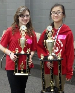 Mai Lor (on right in photo), 7th grader from Roswell Kent Middle School.