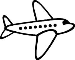Drawing of an airplane.