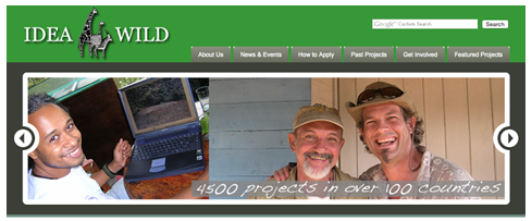 Screen capture of the Idea Wild website.