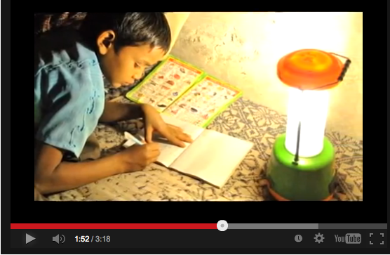 Solar lighting through Lighting a Billion Lives