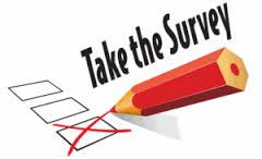 "Logo showing a pencil checking a box with the words ""Take the Survey"" above it."